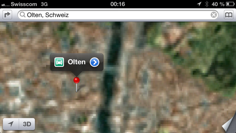 Apple Karten App - Olten, Schweiz