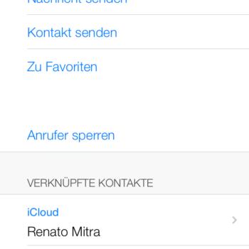 Kontaktdetails iOS 7