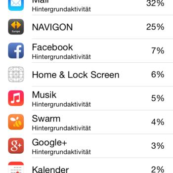 iOS 8 Batterieverbrauch