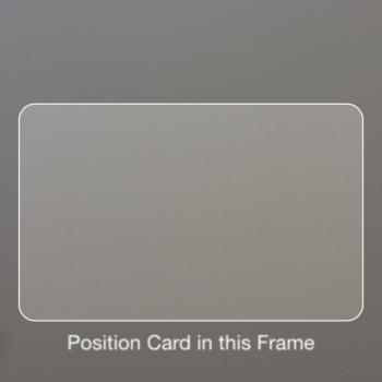 Kreditkarte fotografieren.