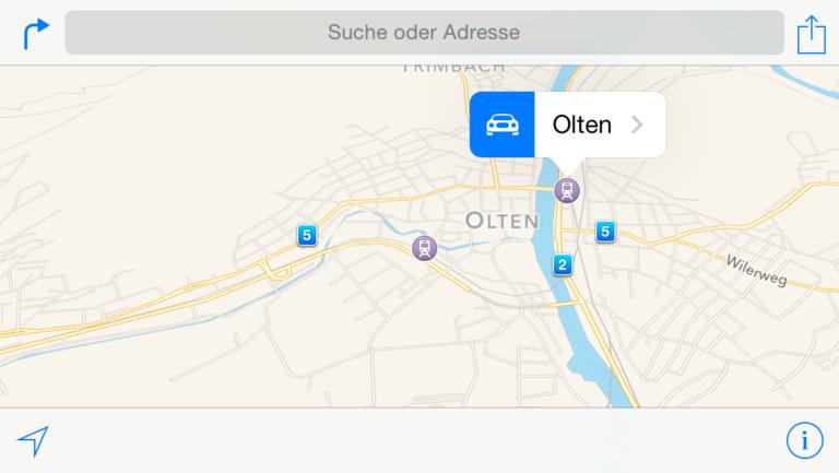 Vektor Karten von Apple