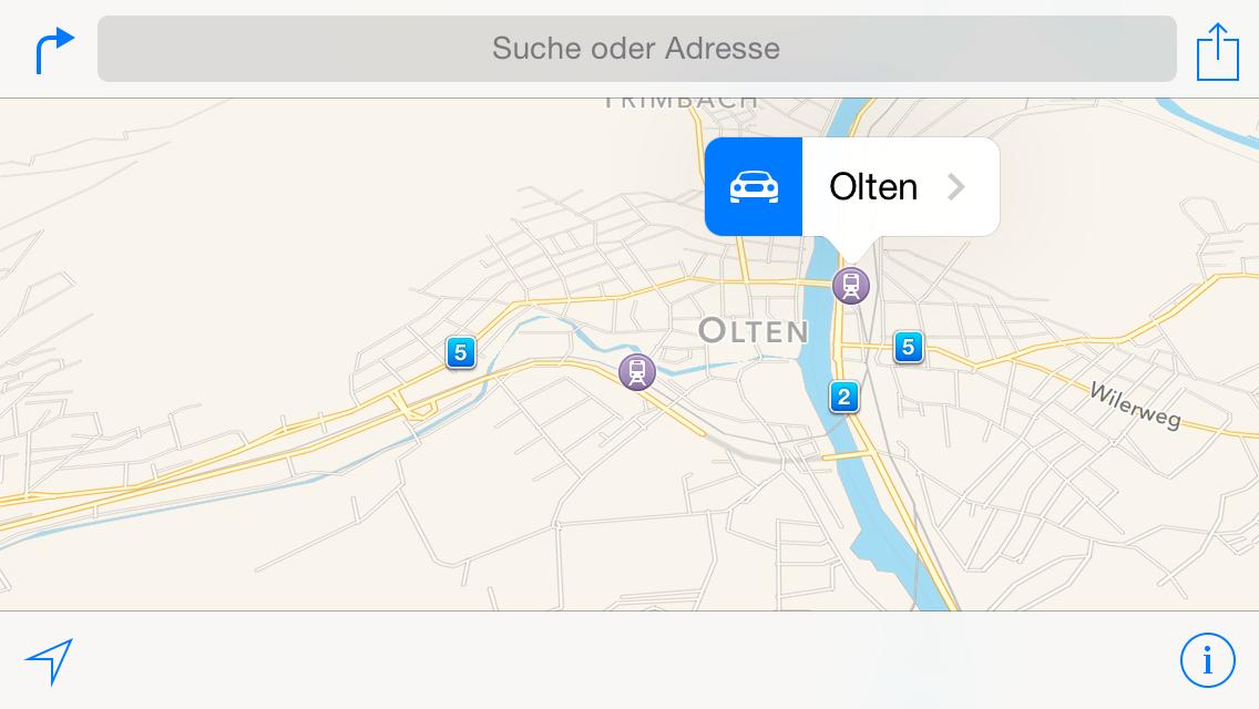 Was ist mit der Karten-App von Apple?