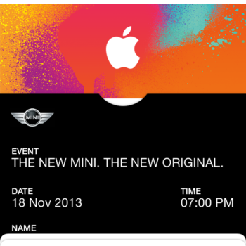 iTunes Pass in Passbook
