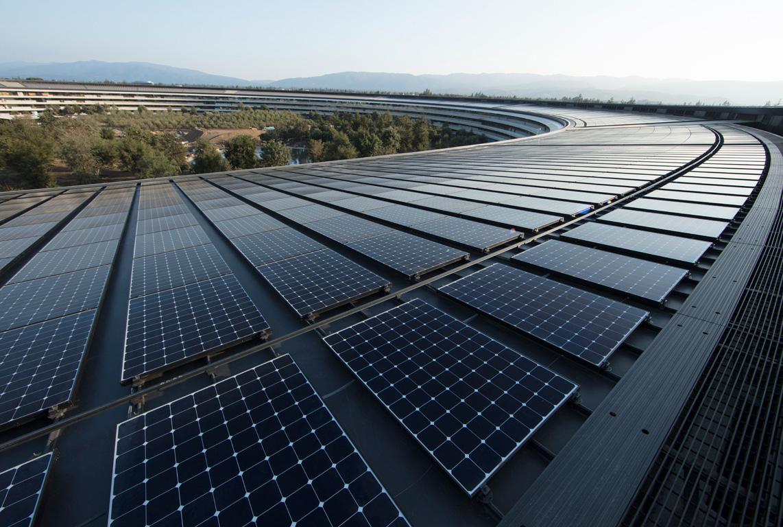 Apple mit erneuerbarer Energie