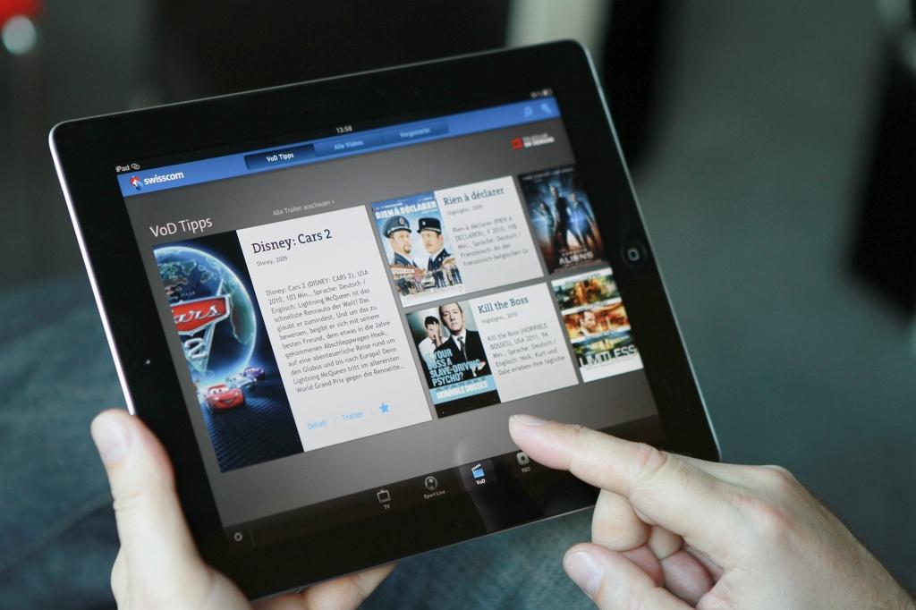 Swisscom setzt auf das iPad als Fernsehsteuerung