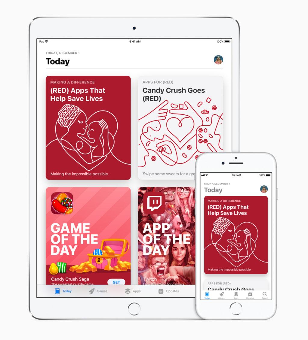 (RED) auch im Apple App Store