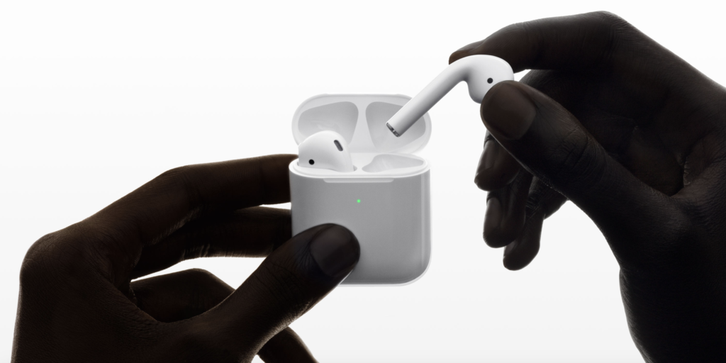 AirPods 2 mit kabellosem Ladecase