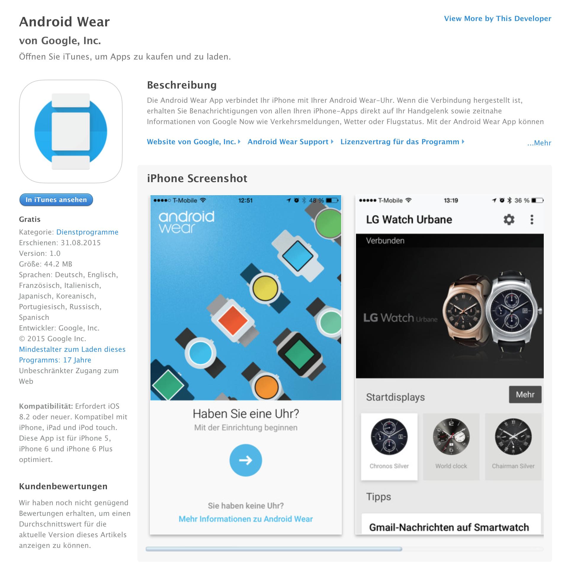 Android Smartwatches können jetzt auch mit dem iPhone.