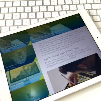 ApfelBlog.ch App auf dem iPad