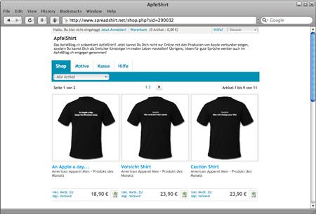 ApfelShirt: http://apfelshirt.spreadshirt.de