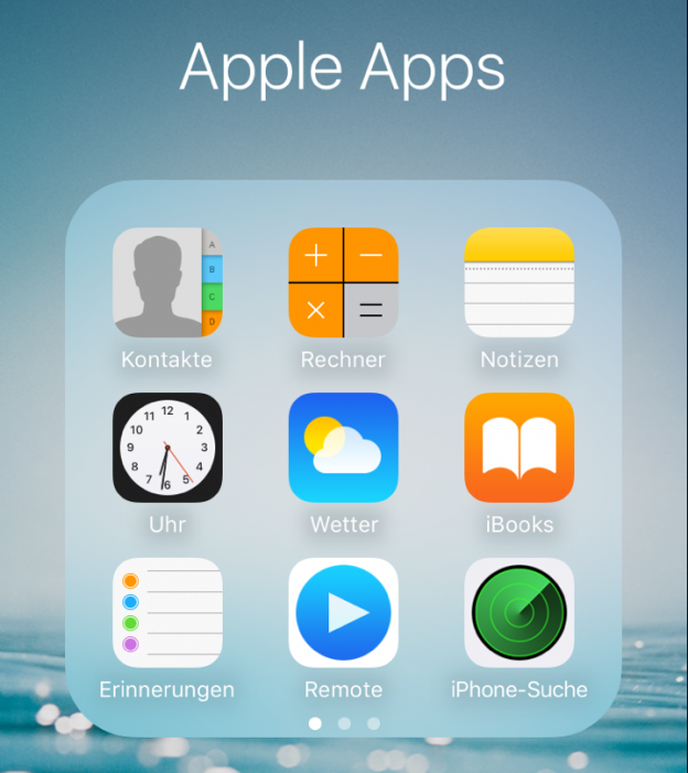 Apple iOS Standard Apps