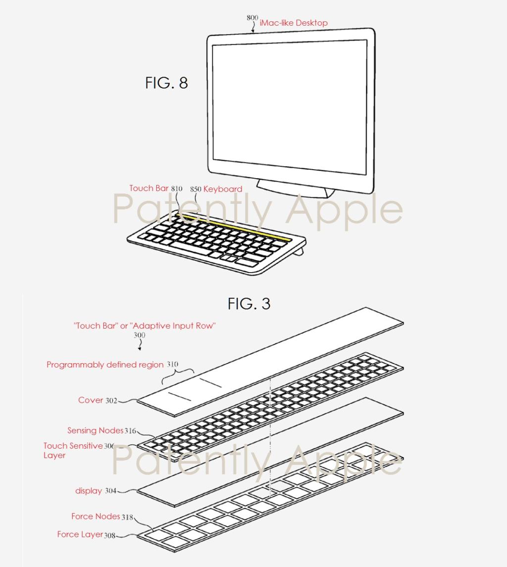 Patentantrag für Keyboard mit Touch Bar und Touch ID