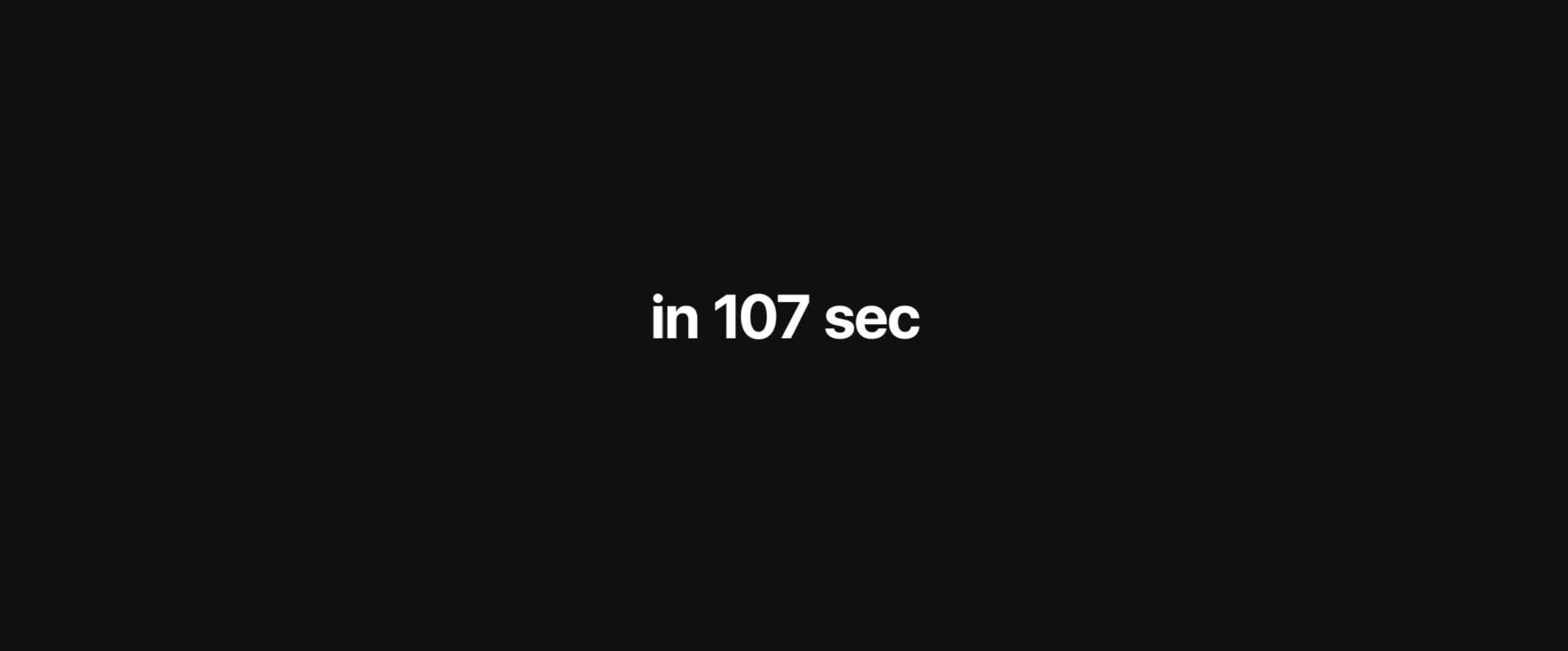 Apple Keynote in nur 107 Sekunden.