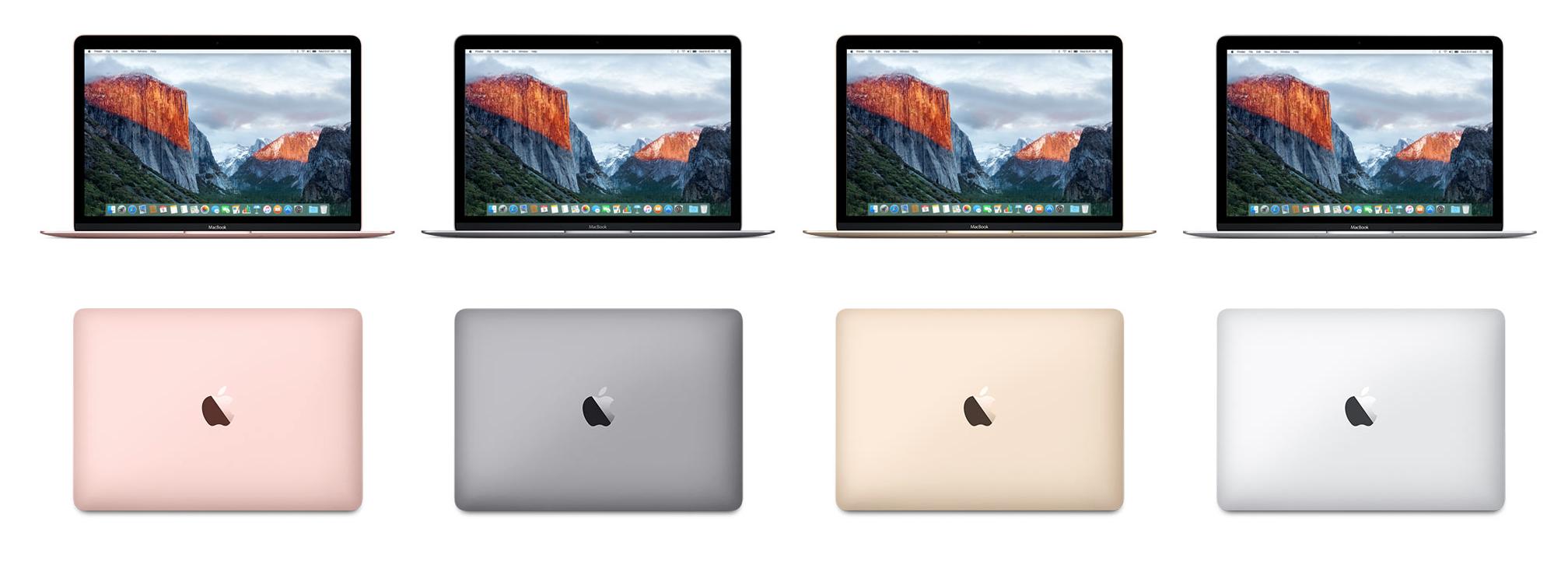 Apple MacBook mit neuesten Prozessoren, längerer Batterielaufzeit und in Roségold.