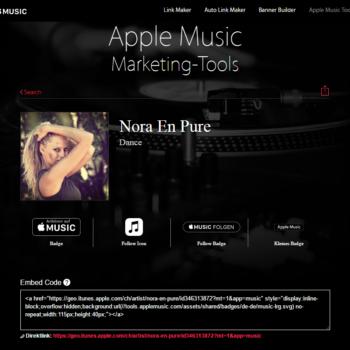 Apple Music Marketing Tool