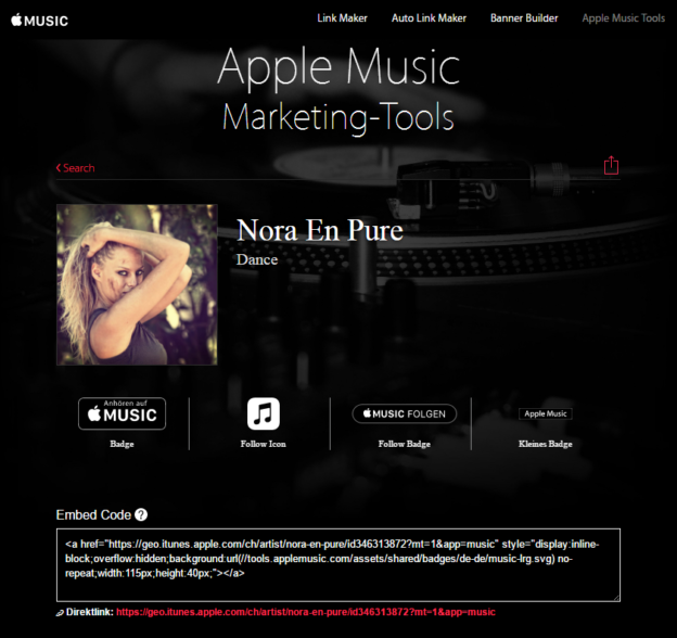 Apple Music Marketing Tool