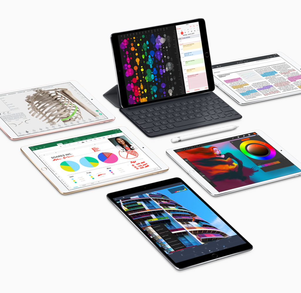 iPad Pro Familie mit Apple Pencil und Smart Keyboard