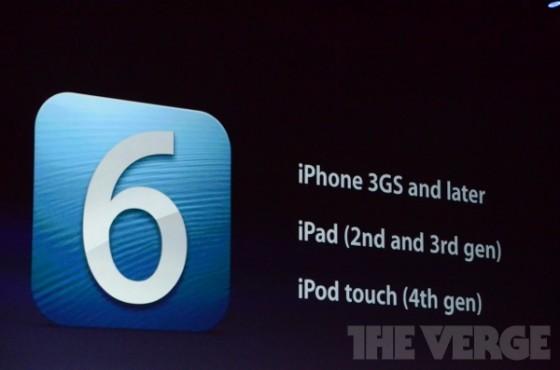 iOS 6 Geräte