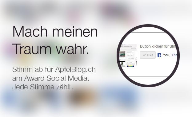 Award Social Media mit ApfelBlog.ch