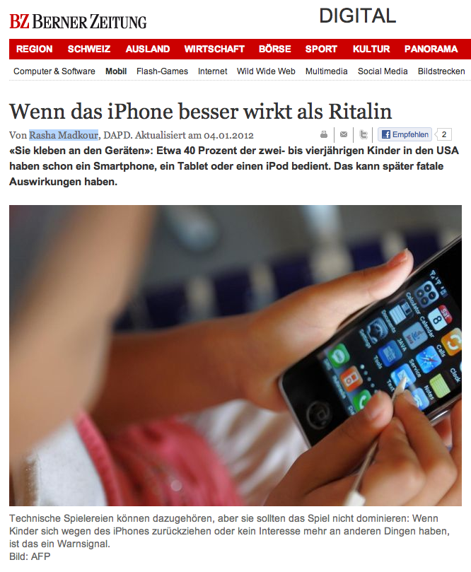 iPhone, iPad, iPod touch und Kinder – Fluch oder Segen?