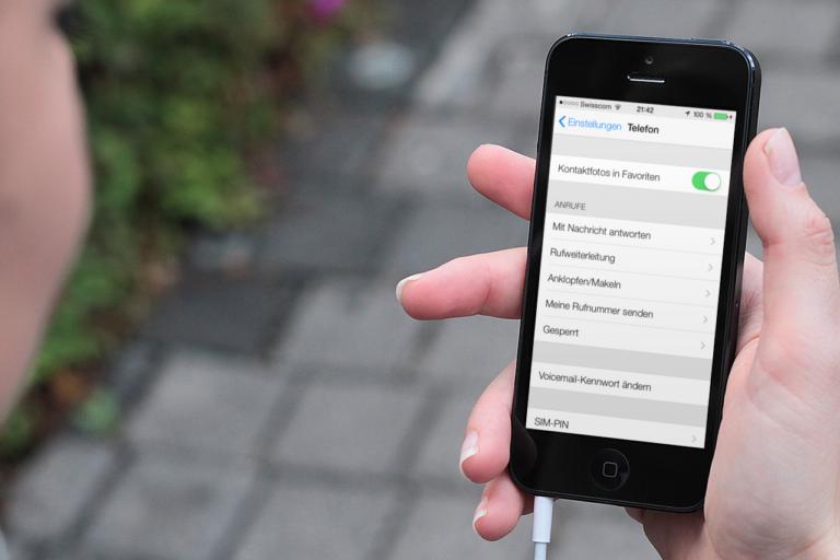 Einstellungen in iOS 7
