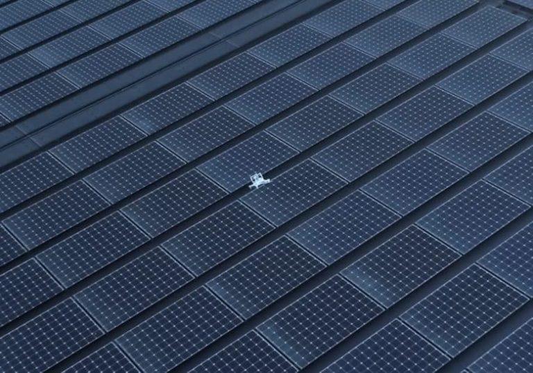 Drohne stürzt auf das Solar-Dach im Apple Park