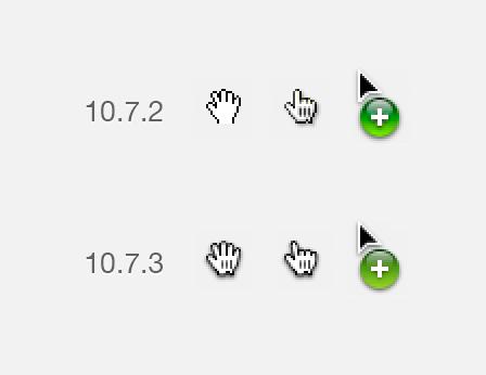 Icons im Mac OS X 10.7.3