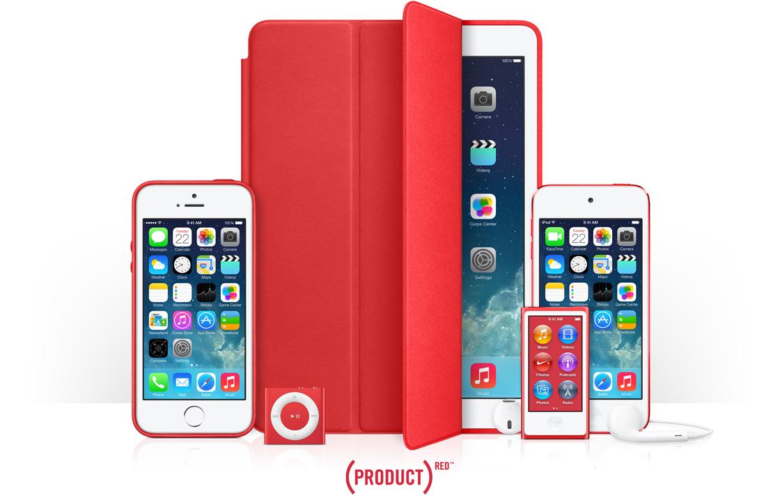Apple spendet einen Teil der Weihnachtsumsätze zu Gunsten von (RED).