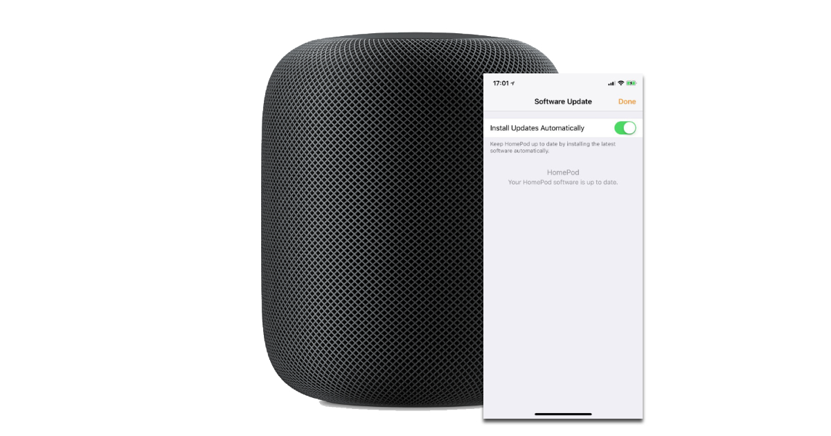 iPhone Home App Manages HomePod Software Updates