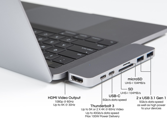 HyperDrive – Ein MacBook Pro USB-C Adapter für alles.