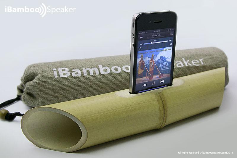 iBamboo – Lautsprecher ohne Strom für iPhone