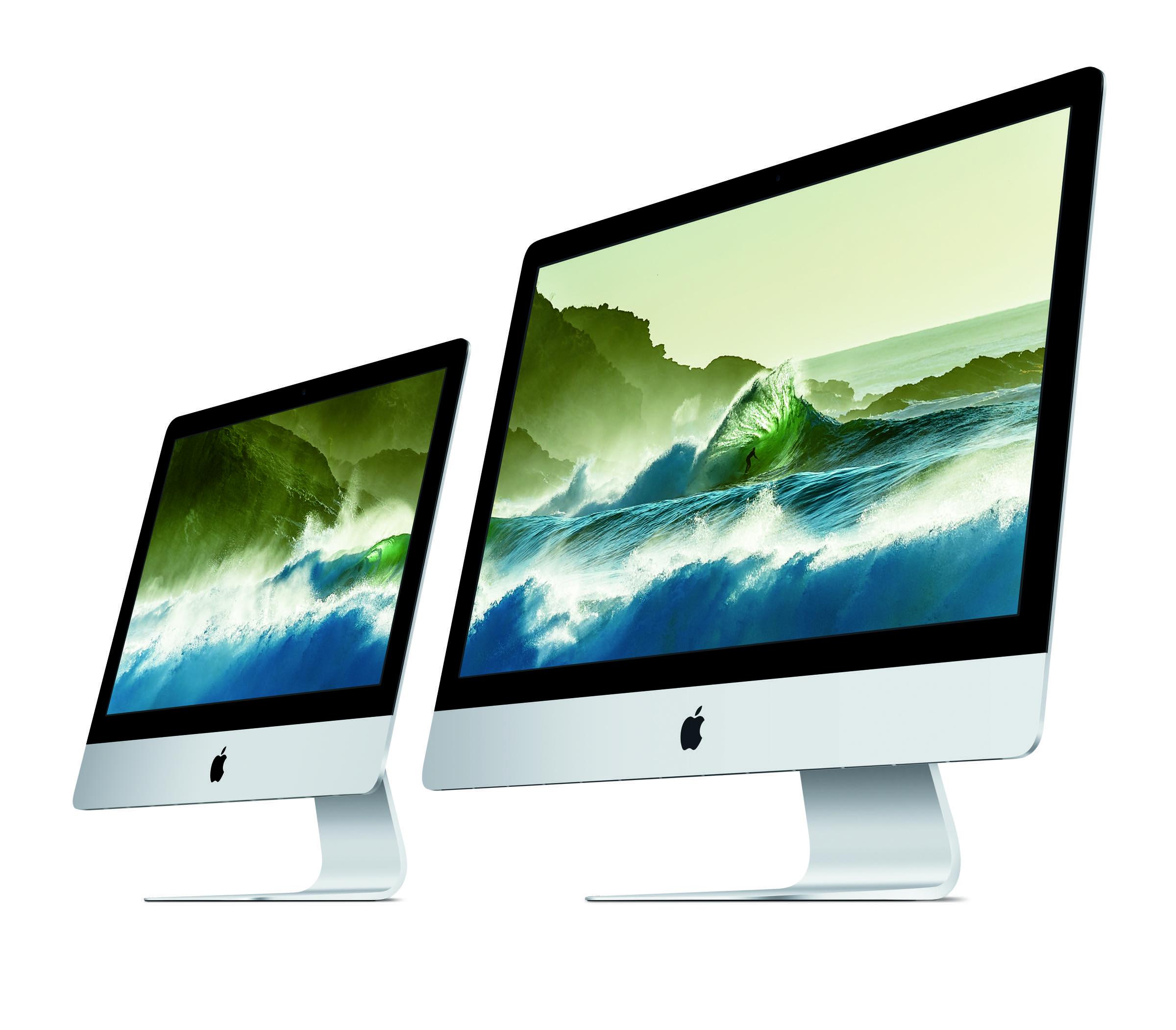 iMac gibt es nun in gross und grösser mit neuen Retina Displays.