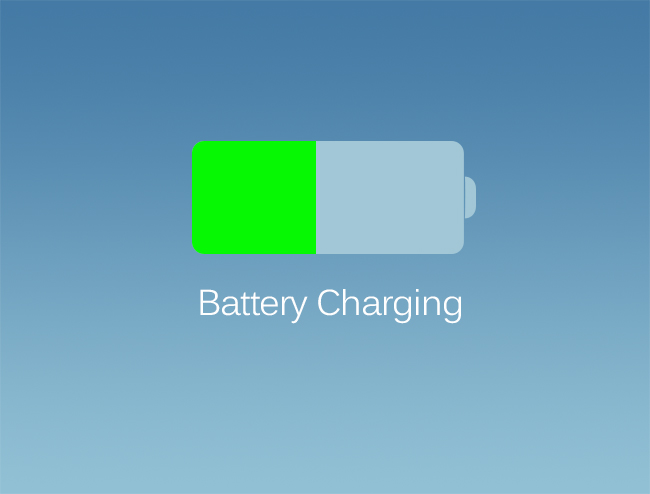 iOS 7 Battery Charging