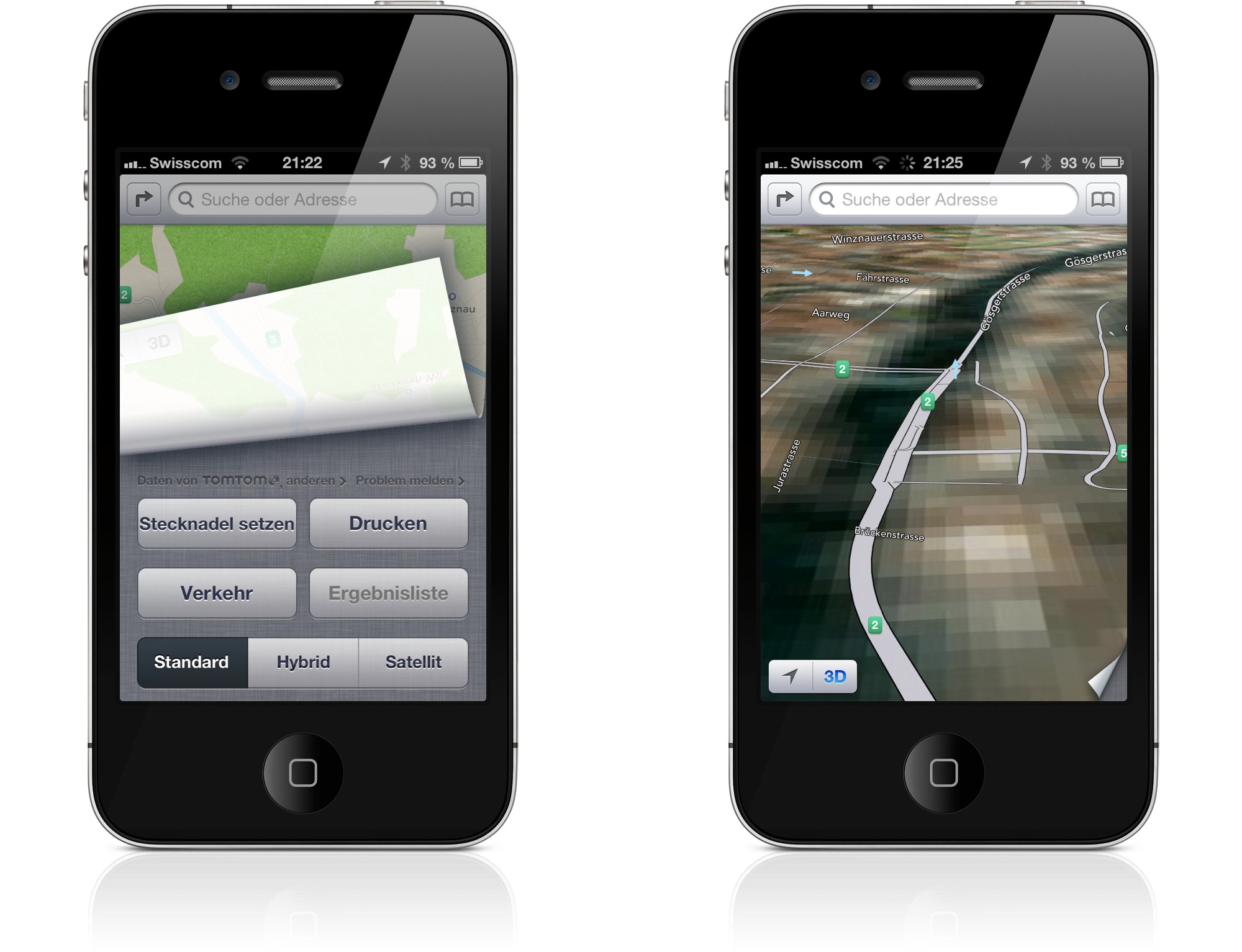 Die Karten App von iOS 6 hat Verbesserungspotential