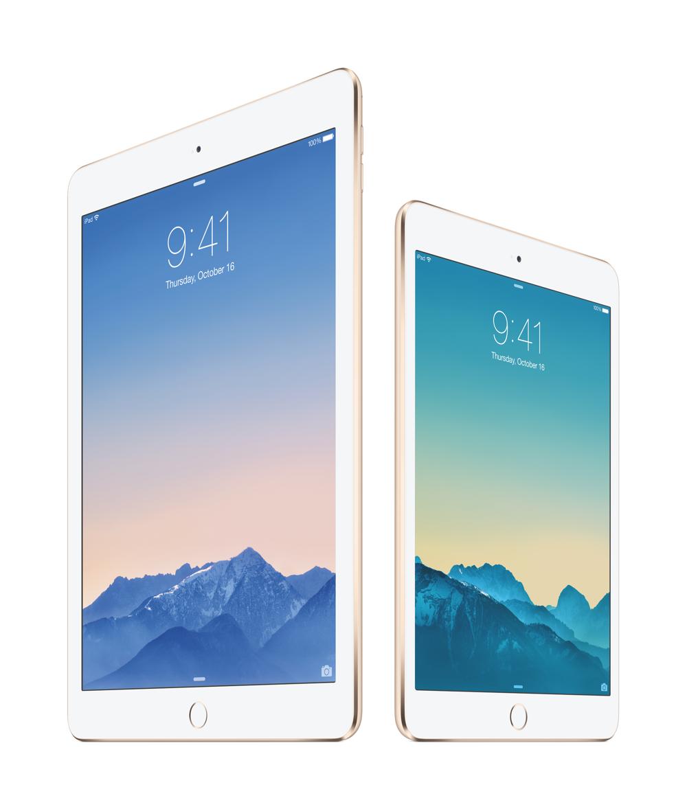 iPad Air 2 und iPad mini 3 – Die dünnsten Tablets.