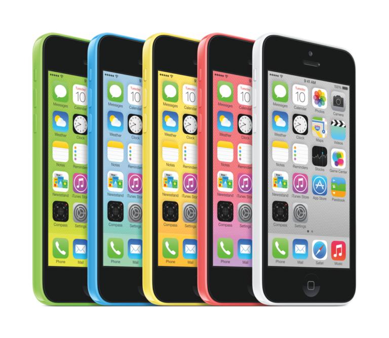 iPhone 5C in 5 Farben