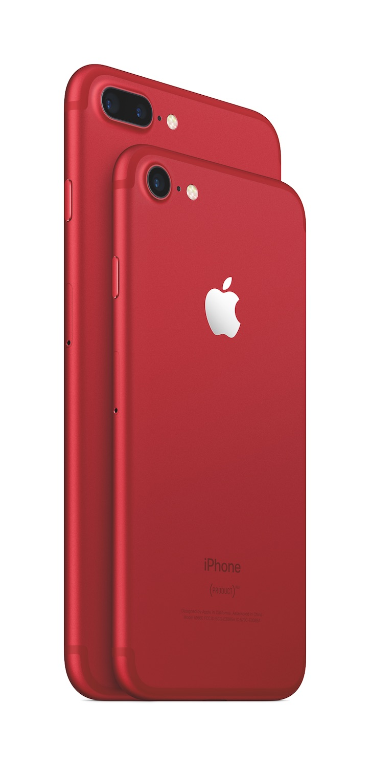 iPhone 7 und iPhone 7 Plus als (PRODUCT)RED Spezial-Edition.