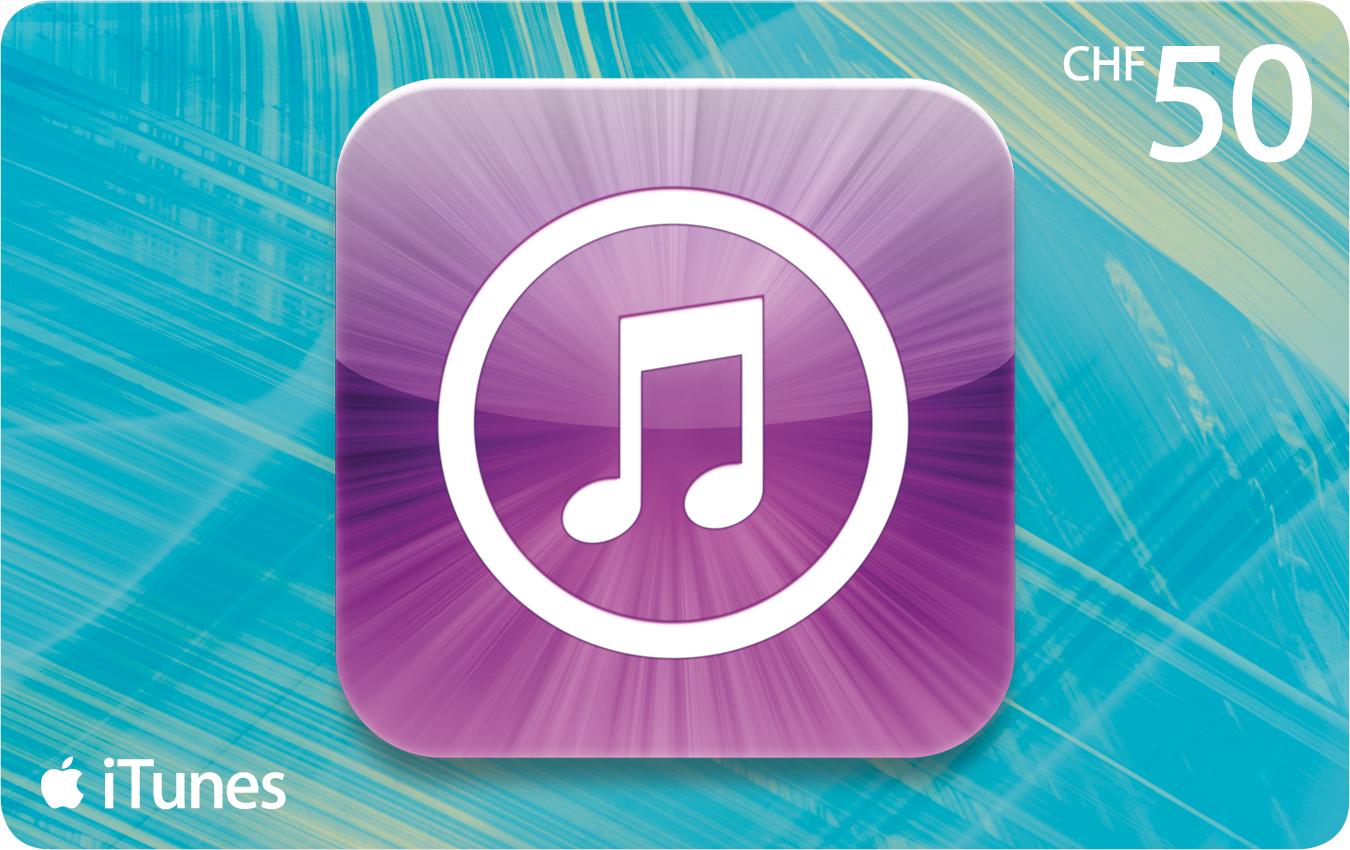 50 Franken iTunes-Karten für nur CHF 39.-