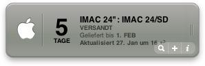 iMac 24″ Lieferstatus