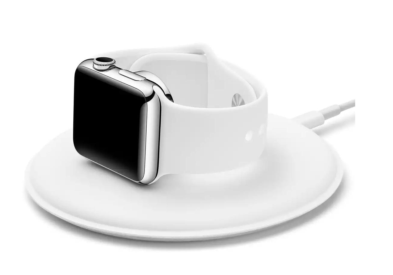 Magnetisches Ladedock für die Apple Watch.