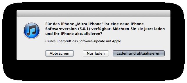 Apple hat iOS 5.0.1 veröffentlicht