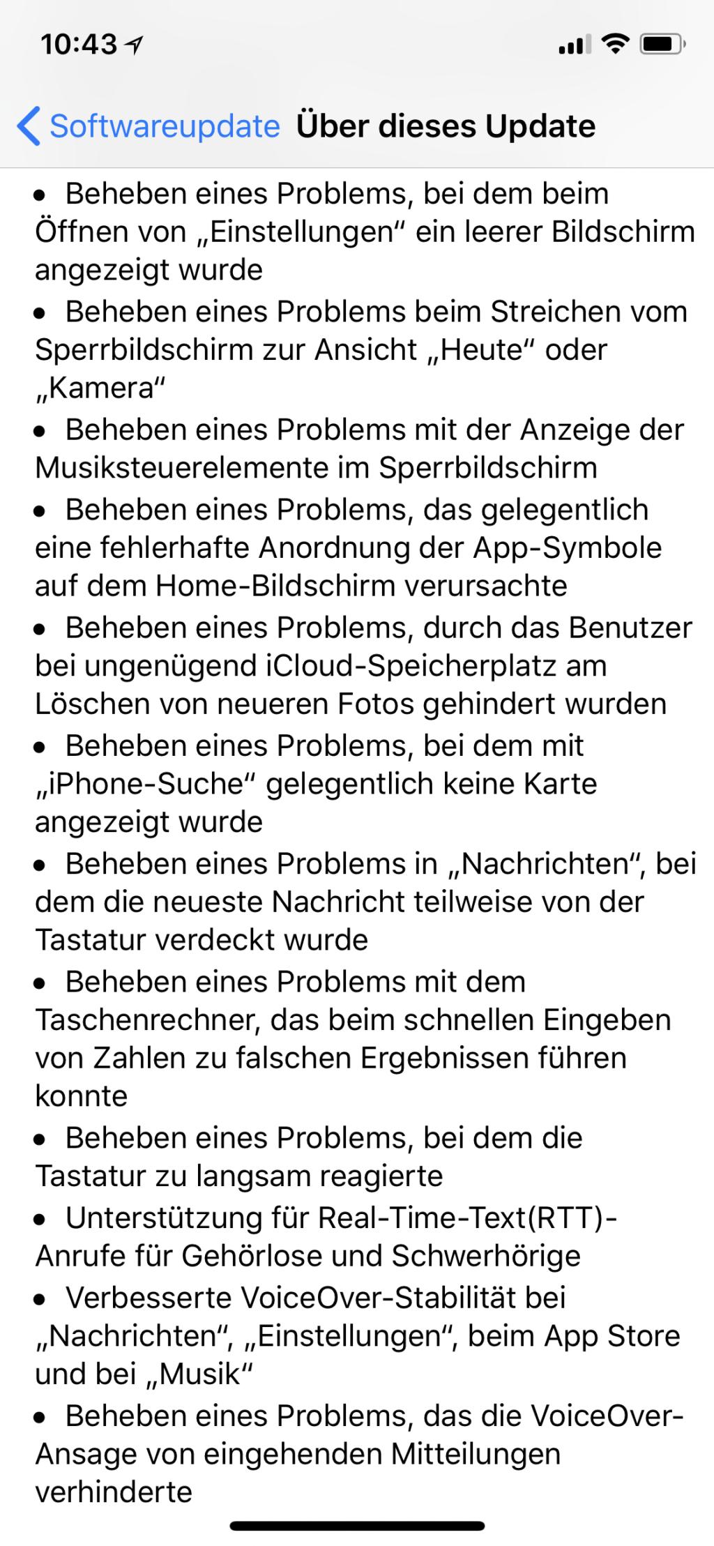 Update auf iOS 11.2 mit vielen Verbesserungen
