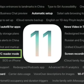 NFC reader mode in iOS 11