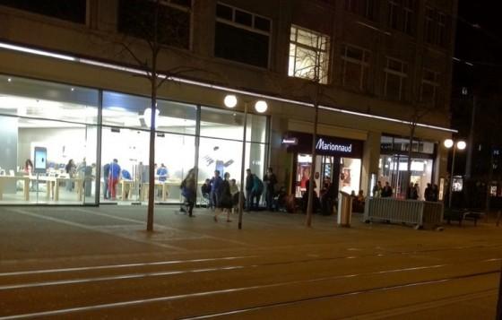 iPad Anstehen Zürich Apple Store