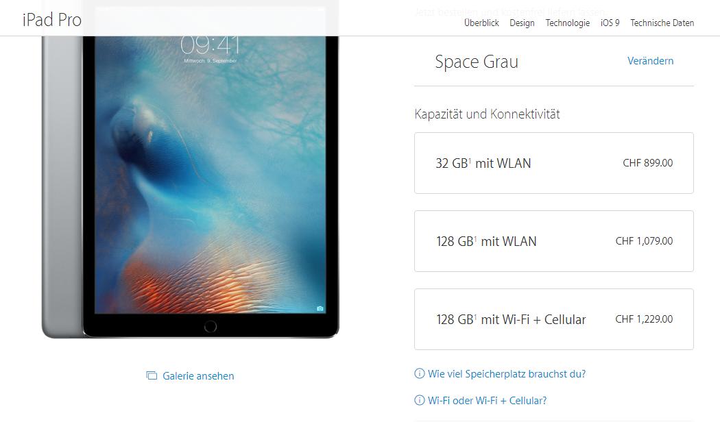 Jetzt: iPad Pro und Apple Pencil in der Schweiz bestellen.