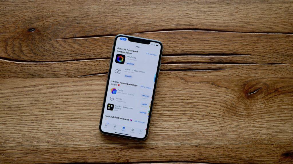 Apple App Store auf dem iPhone XS Max