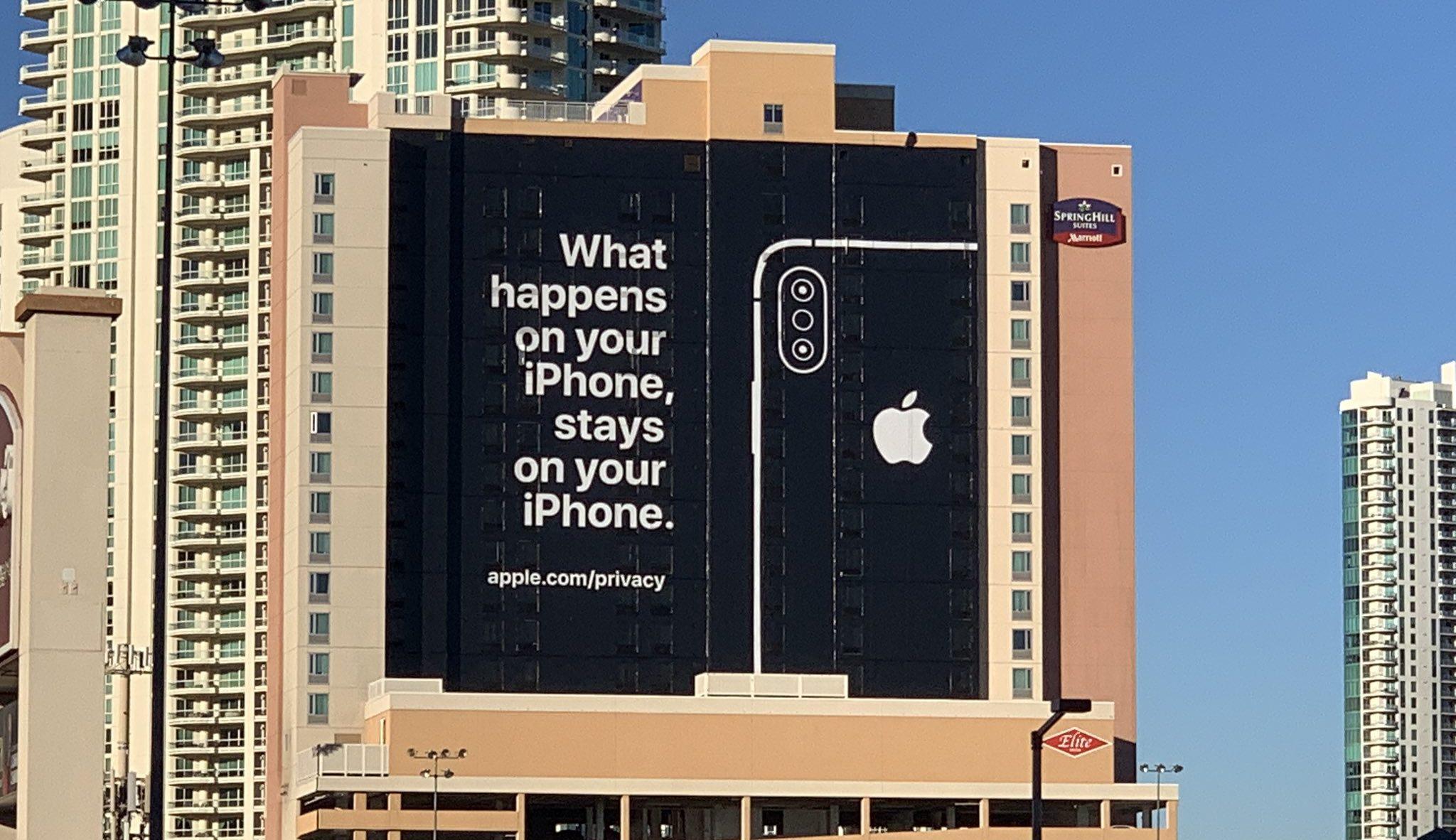 iPhone Werbung von Apple an der CES in Las Vegas
