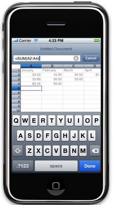 Excel auf dem iPhone