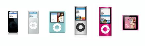 iPod nano History