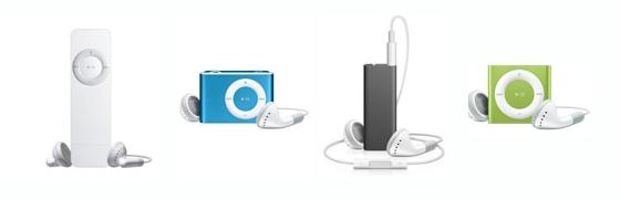 iPod shuffle History